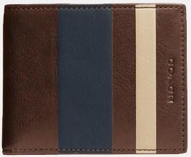 Men's Coach Bleeker Slim Billfold ID Leather Wallet