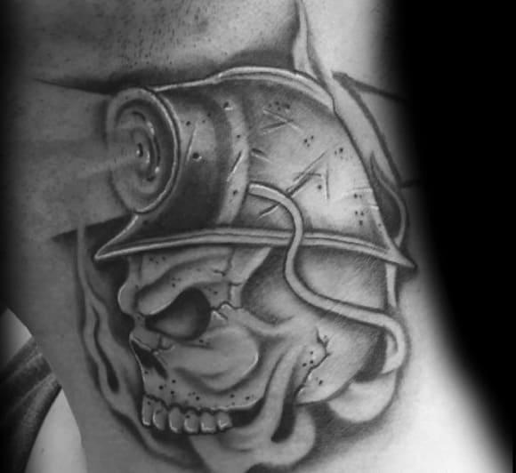 Mens Coal Mining Tattoo