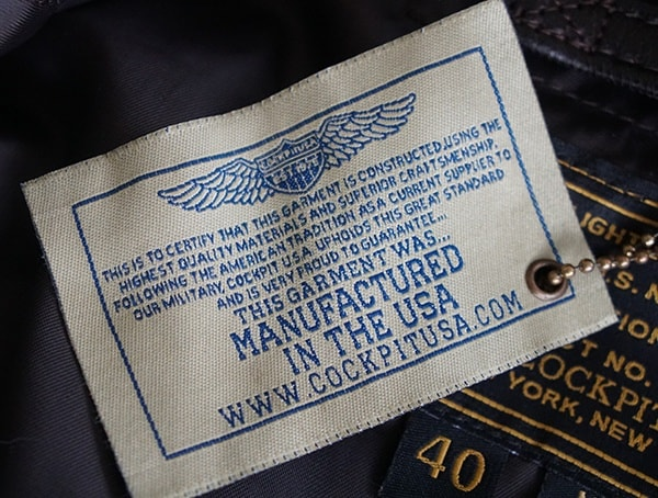 Mens Cockpit Usa G 1 Flight Jacket Manufactured In The Usa