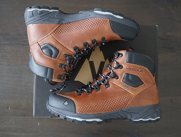 Mens Cognac Vasque St Elias Full Grain Gore Tex Boots