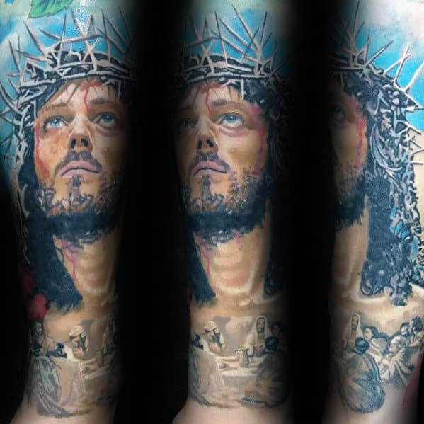 50 Jesus Forearm Tattoo Designs For Men - Christ Ink Ideas