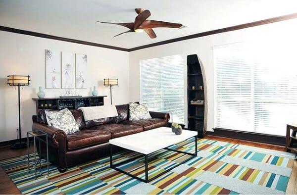 Mens Colorful Bachelor Pad Living Room Inspiration