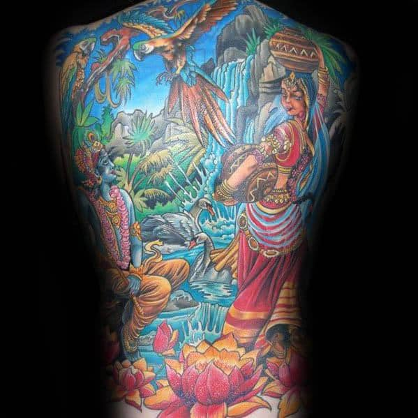 90 Om Tattoo Designs For Men: 40 Krishna Tattoo Designs For Men