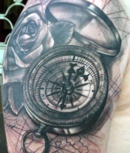 Men's Compass Rose Tattoos