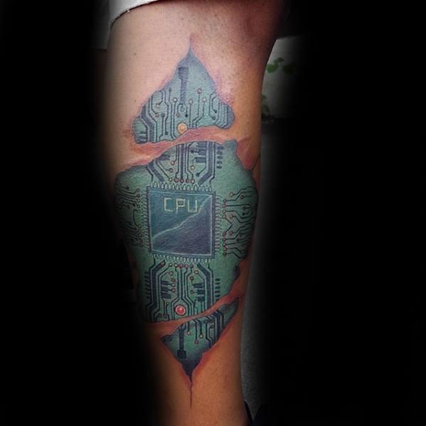 Mens Computer Tattoo Design Ideas