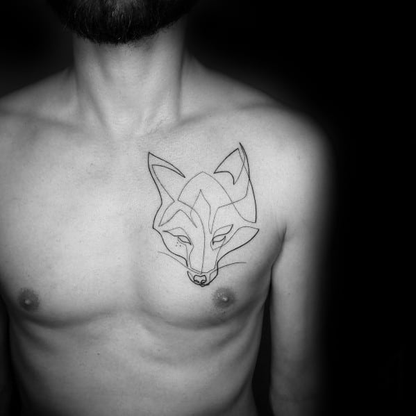 Mens Continuous Line Tattoo Designs