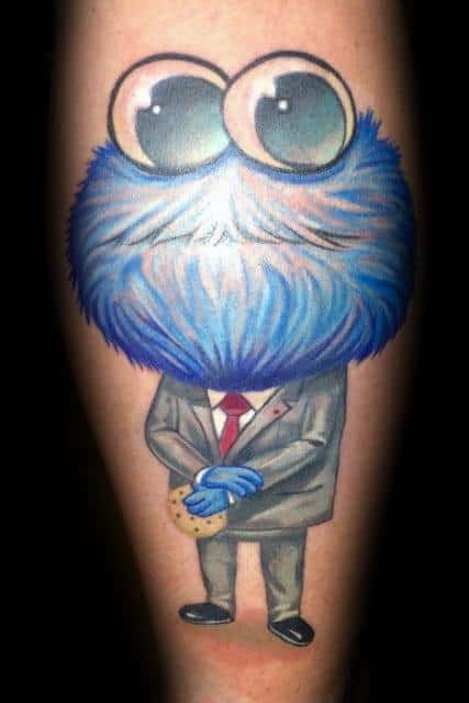 30 cookie monster tattoo designs for men