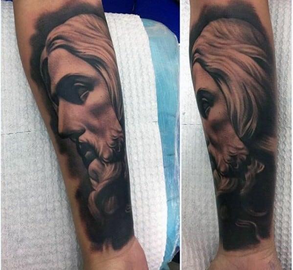 Mens Cool 3d Jesus Tattoo Ideas