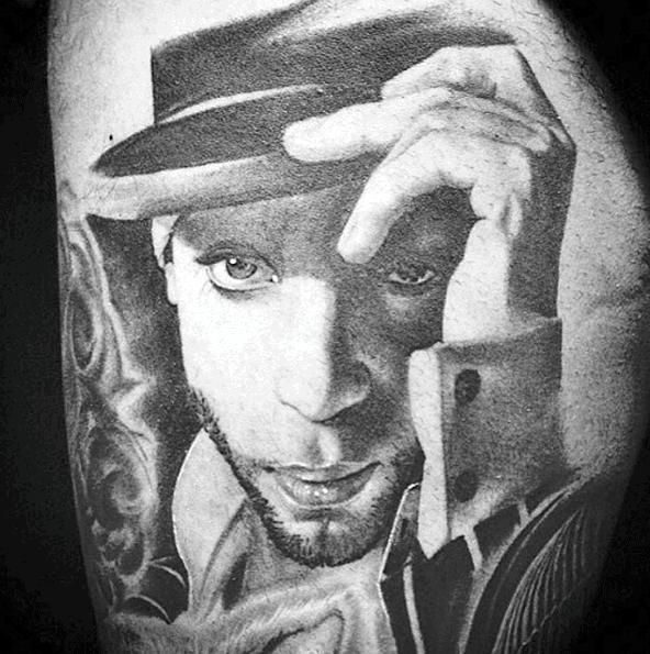 Mens Cool 3d Portrait Arm Prince Tattoo Ideas