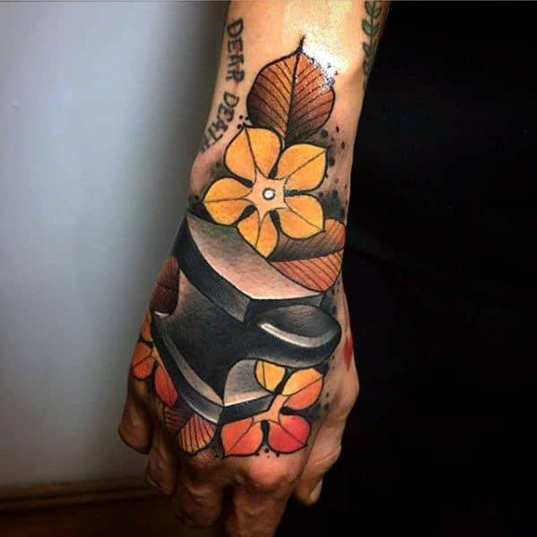 Mens Cool Anvil Tattoo Ideas