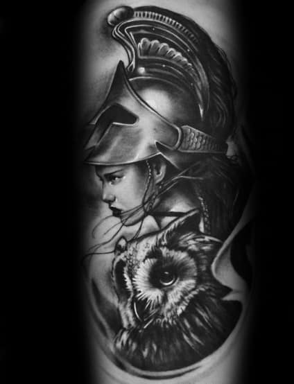 Mens Cool Athena Tattoos