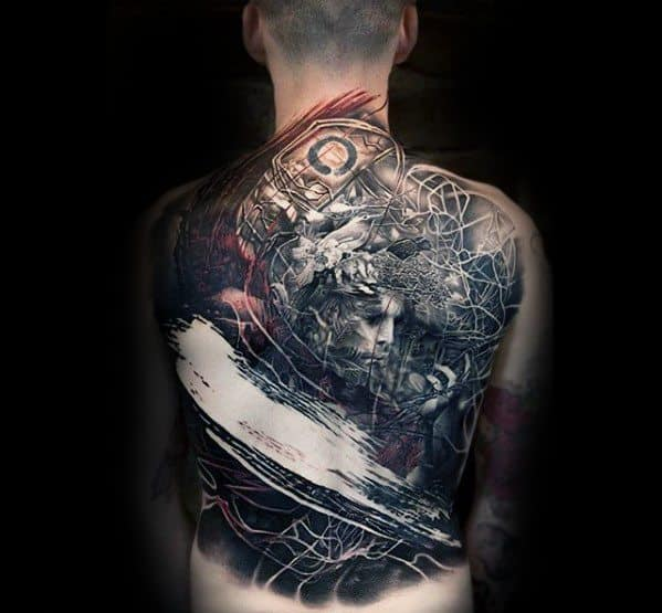 Mens Cool Awesome Back Tattoo Ideas