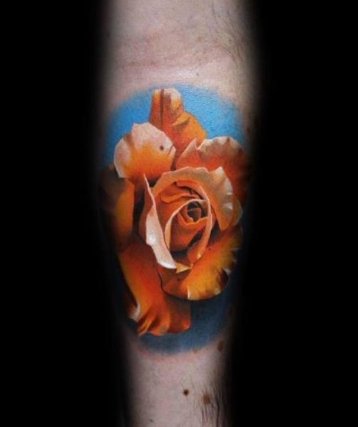 Mens Cool Badass Rose Tattoos