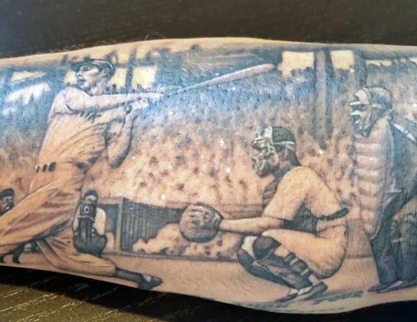 Men's Cool Baseball Tattoos