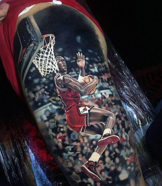 Mens Cool Basketball 3d Greatest Tattoo Design Inspiration