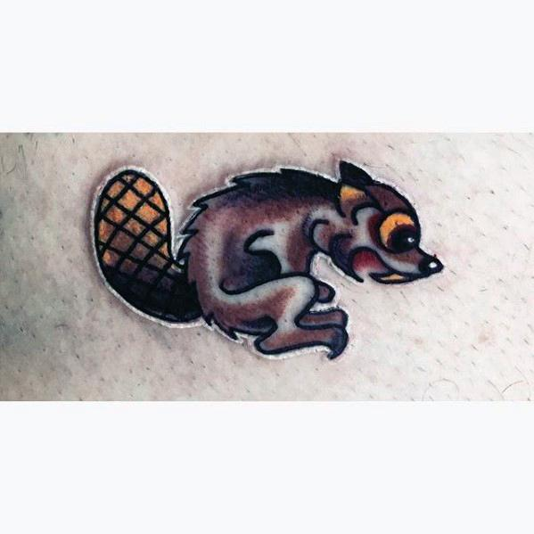 Mens Cool Beaver Tattoo Ideas