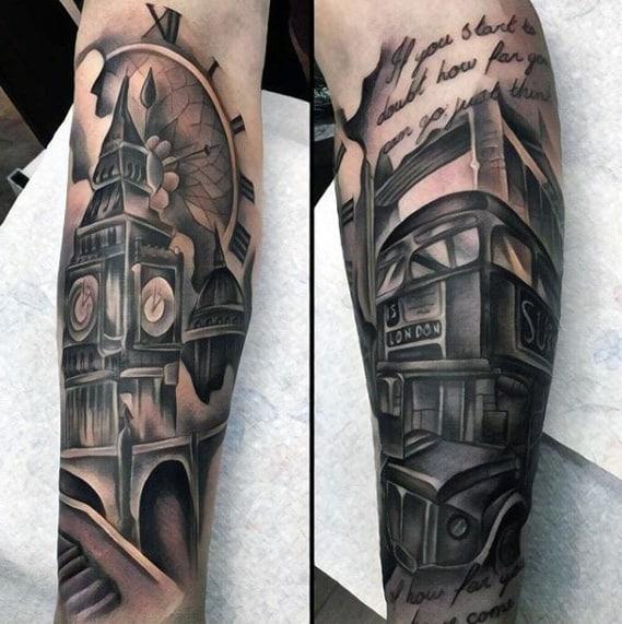 Mens Cool Big Ben Tattoo Ideas
