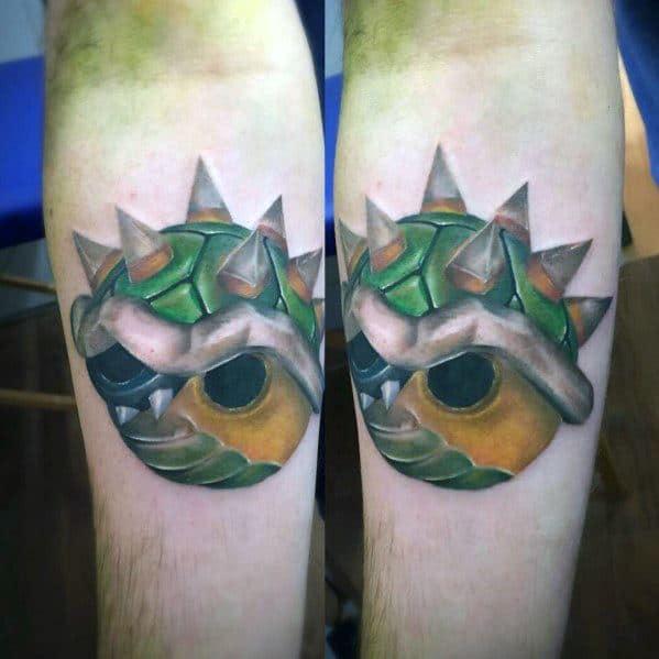 Mens Cool Bowser Tattoos