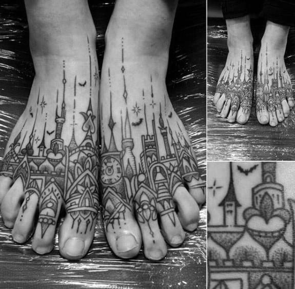 Mens Cool Cathedral Tattoo Ideas