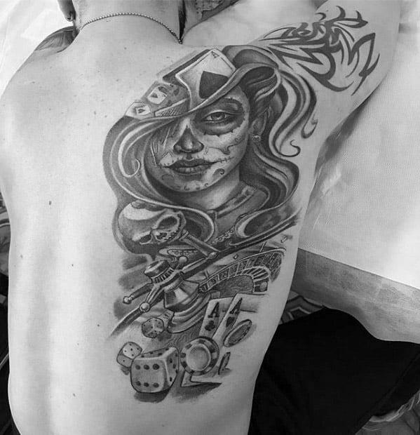 Mens Cool Catrina Tattoo Ideas