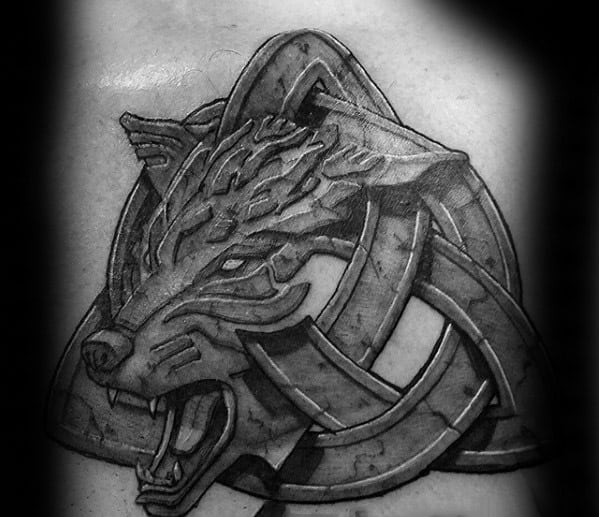 Mens Cool Celtic Wolf Tattoo Ideas