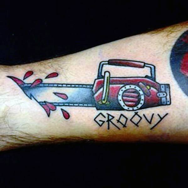 Mens Cool Chainsaw Tattoo Ideas