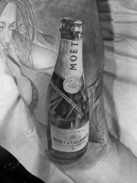 Mens Cool Champagne Tattoos