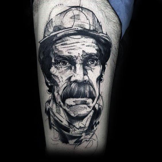 Mens Cool Coal Mining Tattoos