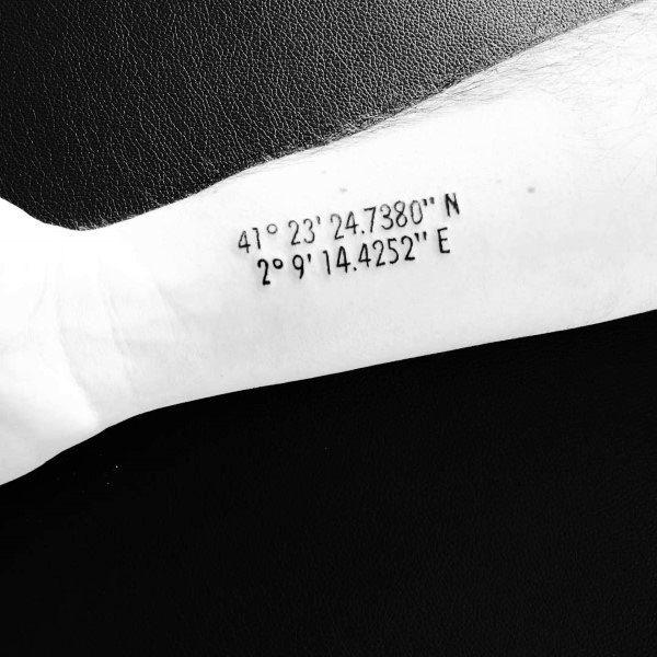Mens Cool Coordinate Tattoos