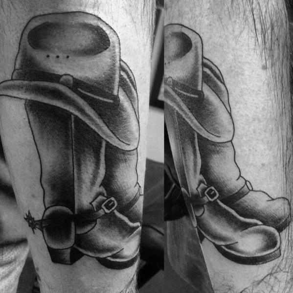 Mens Cool Cowboy Boot Tattoos
