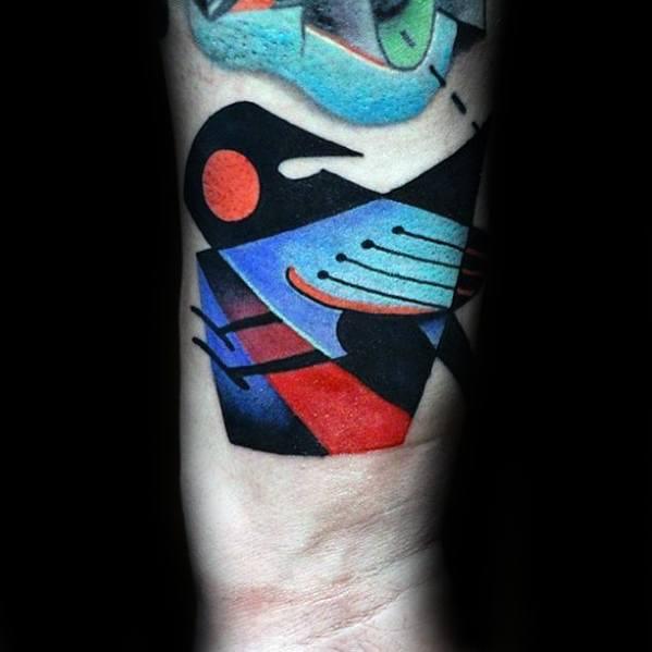 Mens Cool Cubism Tattoo Ideas On Wrist
