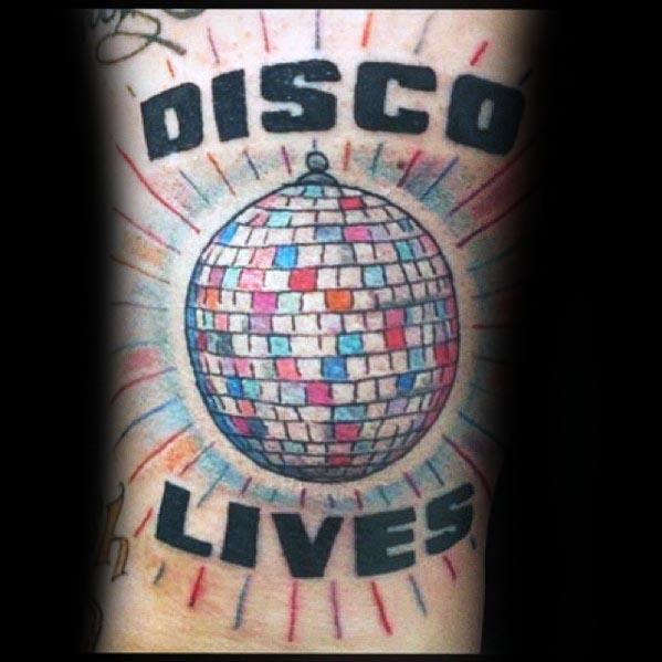 Mens Cool Disco Ball Tattoos