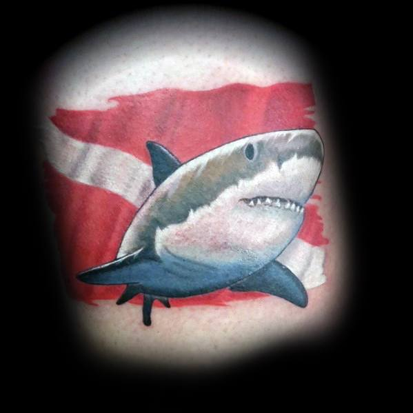 Mens Cool Dive Flag Tattoos