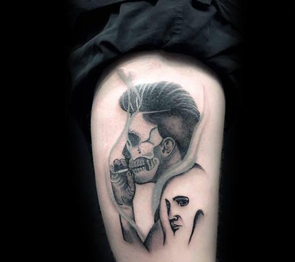 Mens Cool Elvis Presley Tattoo Ideas