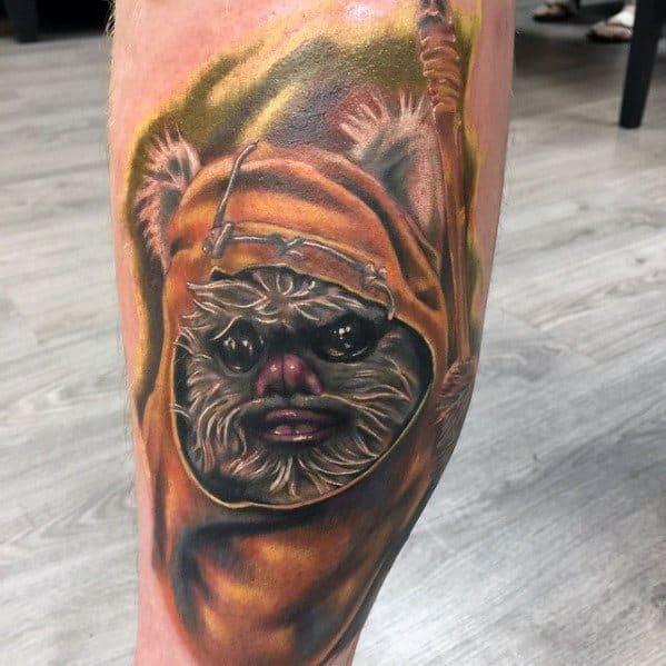 Mens Cool Ewok Tattoo Ideas