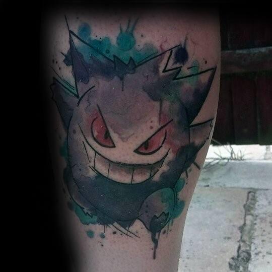 Mens Cool Gengar Tattoo Ideas