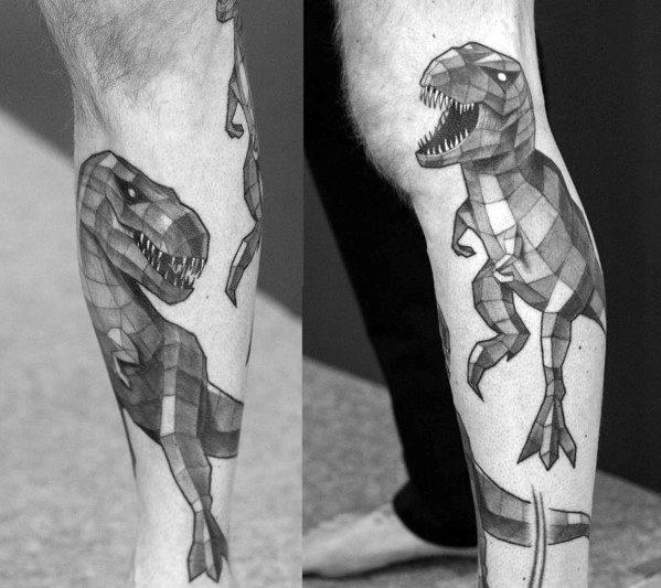 Mens Cool Geometric Animal Tattoo Ideas