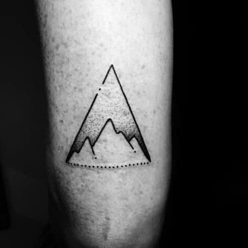 Mens Cool Geometric Mountain Tattoo Ideas