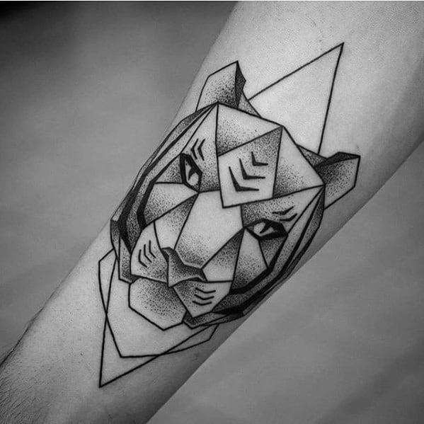 Mens Cool Geometric Tiger Tattoo Ideas