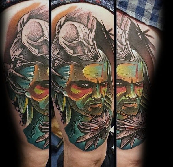 Mens Cool Geralt Tattoos