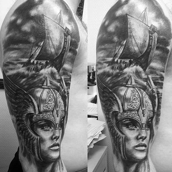 25 Viking Tattoo Designs Ideas: 60 Valkyrie Tattoo Designs For Men