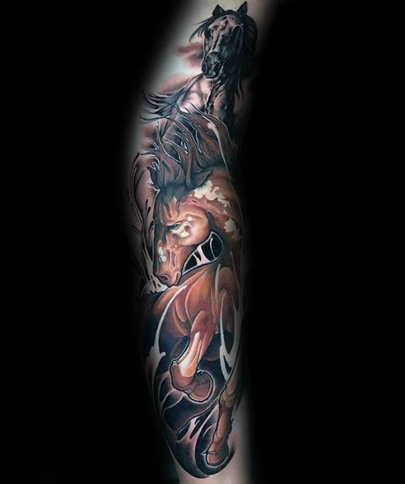 Mens Cool Horse Tattoo Ideas