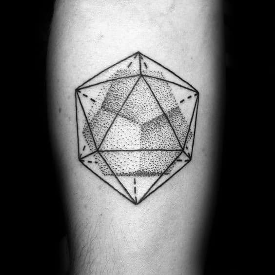 Mens Cool Icosahedron Tattoo Ideas