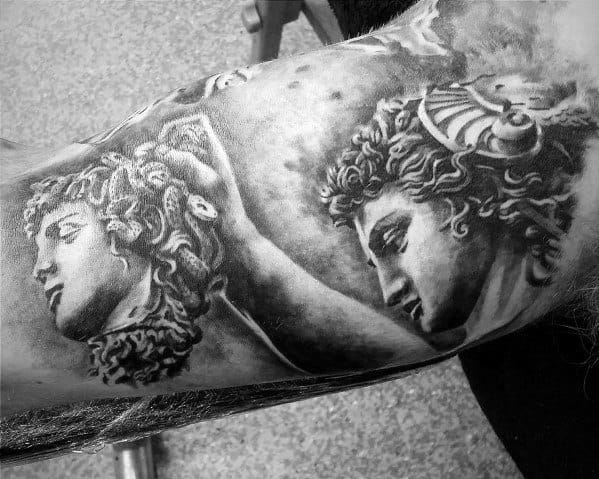 Mens Cool Inner Arm Bicep Perseus Tattoo Ideas