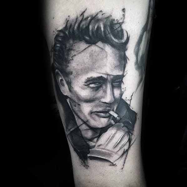 Mens Cool James Dean Tattoo Ideas