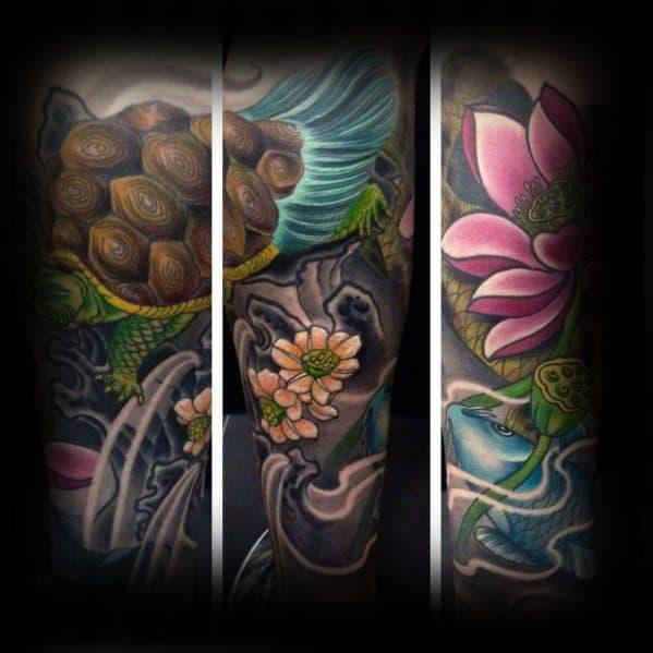 Mens Cool Japanese Turtle Tattoos