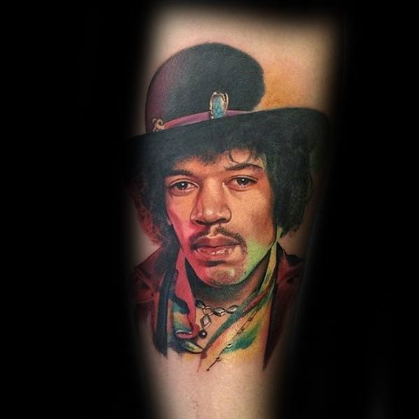 Mens Cool Jimi Hendrix Tattoo Ideas