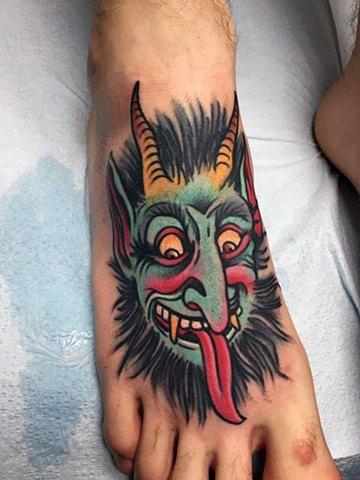 Mens Cool Krampus Tattoo Ideas