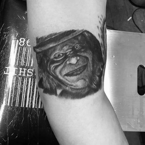 Mens Cool Leprechaun Tattoo Ideas On Outer Arm