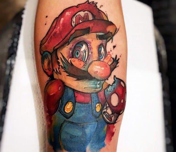 Mens Cool Mario Tattoos